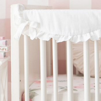 Short Side Crib Rail Guard | Rose Bouquet Collection