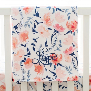 Peach Baby Blanket | Rosewater in Peach Crib Collection