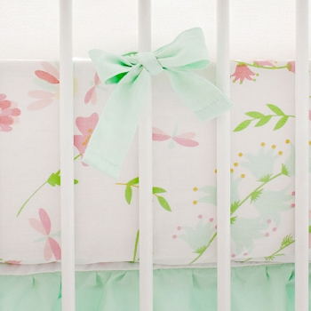 Floral Crib Sheet | Mix and Match Collection