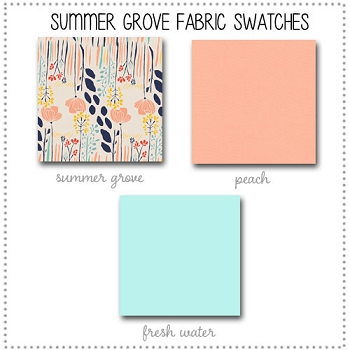 Summer Grove Crib Collection Fabric Swatches Only