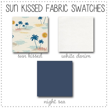 Sun Kissed Crib Collection Fabric Swatches Only