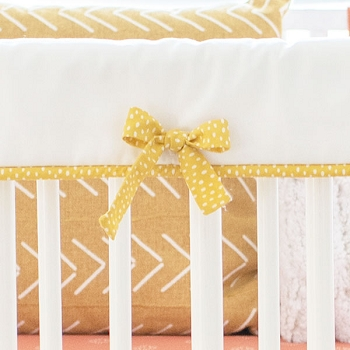 Yellow and White Crib Rail Cover | Sunrise Collection