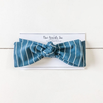 Top Knot Headband - Indigo Stripe