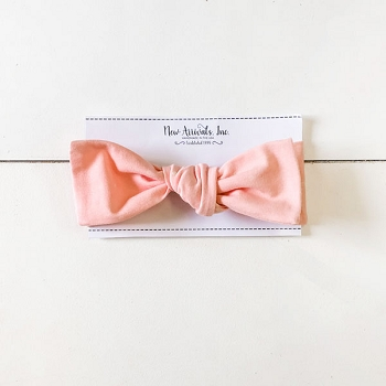 Top Knot Headband - Pink Solid