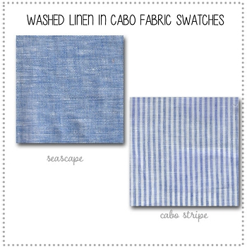 Washed Linen Cabo Bedding Collection Fabric Swatches Only