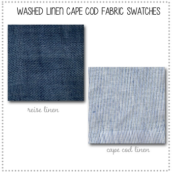 Washed Linen Cape Cod Bedding Collection Fabric Swatches Only