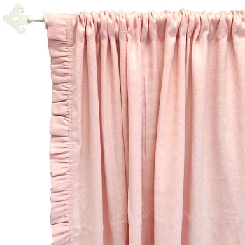 Nursery Curtains | Washed Linen in Blush Collection