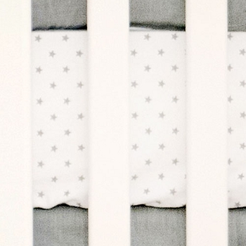 Star Crib Sheet | Washed Linen in Gray Crib Collection