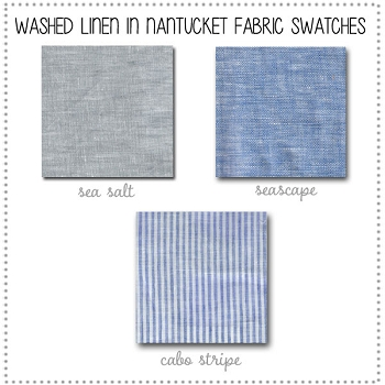 Washed Linen Nantucket Bedding Collection Fabric Swatches Only