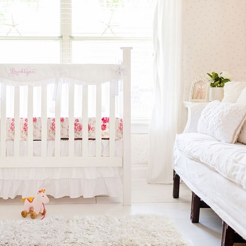 Girl Crib Bedding Sets | Rail Cover Bedding Collection