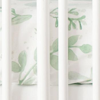 Leaf Crib Sheet | Willow Bedding Collection