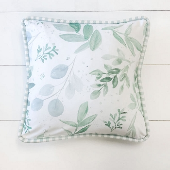 Green Leaf Throw Pillow | Willow Collection