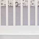 Charcoal Stripe Nursery Dust Ruffle | Adventure Awaits Collection