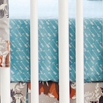 Aqua Arrow Crib Sheet | Oh Hello Fog Collection