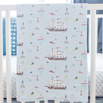 Nautical Baby Blanket | Ahoy Matey Collection