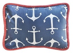 Navy Nautical Anchor Pillow |  Anchors Away in Navy Crib Collection