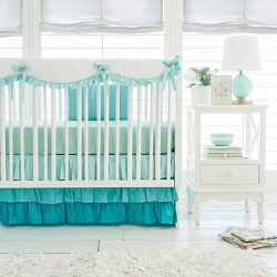 Crib Rail Guard Set  | Aqua Ombre Collection