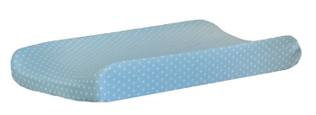 Aqua Changing Pad Cover  |  Vroom Crib Collection