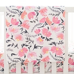 Floral Baby Blanket | Rosewater in Coral Collection