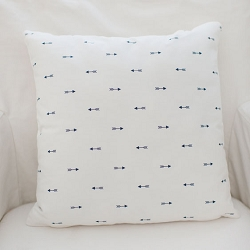 White and Navy  Arrow Pillow | Navy Arrow Crib Collection