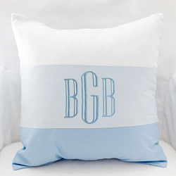 Ombre Blue Pillow | Born Wild in Blue Crib Collection