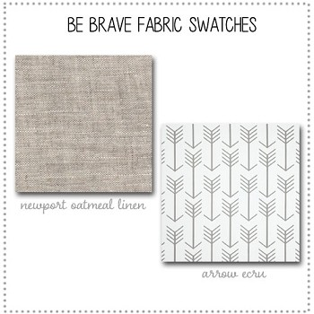 Be Brave Crib Collection Fabric Swatches Only
