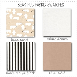 Bear Hug Crib Collection Fabric Swatches Only