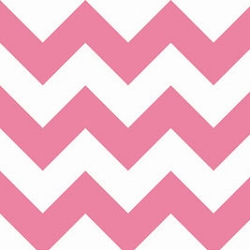 Riley Blake Large Chevron Hot Pink