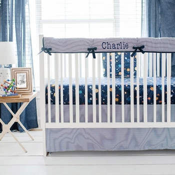 Outer Space Crib Bedding | Blue Moon Collection