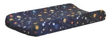 Outer Space Changing Pad Cover | Blue Moon Crib Collection