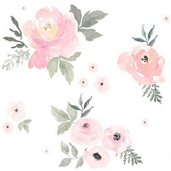 Pink Floral Fabric | Blush Roses