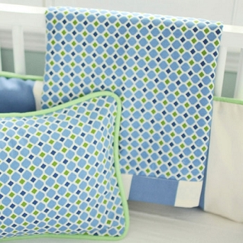 Blue and Green Crib Blanket | Boardwalk Collection