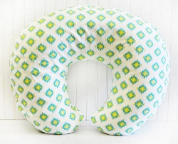 Tribal Nursing Pillow Cover | Aztec Baby in Aqua Crib Collection