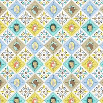 Ana Davis for Blend Fabrics | Born Wild Patchwork Blue