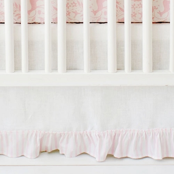Pink and White Crib Skirt | Born Wild in Pink Crib Collection