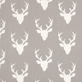 Gray Deer Fabric | Art Gallery Fabrics Buck Forest Mist