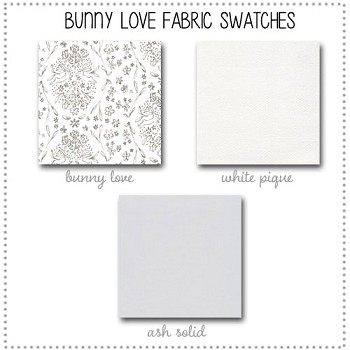 Bunny Love Crib Collection Fabric Swatches Only