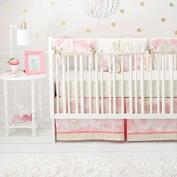 Pink & Gold Crib Rail Cover | You Are Magic in Pink and Gold Collection