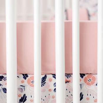 Honeysuckle Crib Sheet | Camping Floral Crib Collection