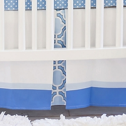Blue and White Nursery Skirt | Carousel Collection