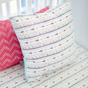 Arrow Pillow | Desert Bloom Arrow Crib Collection