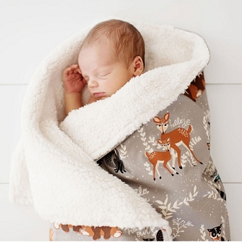 Woodland Faux Fur Baby Blanket | Oh Hello Fog Collection