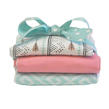 Coral Arrow Burp Cloth Set | Desert Bloom Crib Collection
