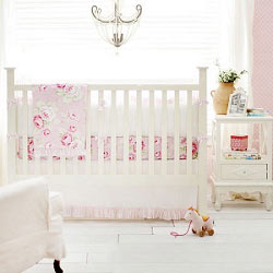 Floral Baby Bedding | Pink Desert Rose Crib Collection
