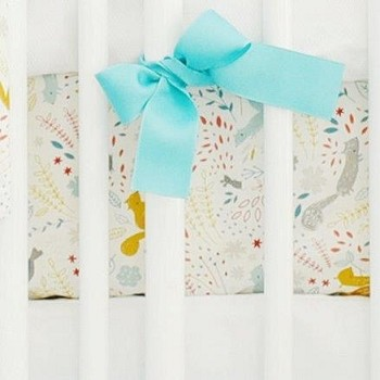 Woodland Crib Sheet | Faraway Forest Collection