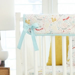 Faraway Forest Pair of Short Side Crib Rail Covers