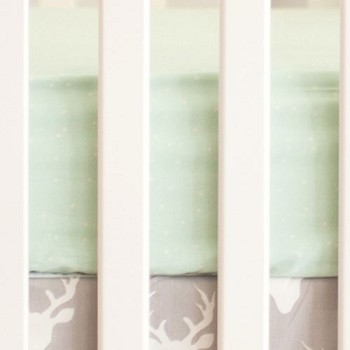 Mint Crib Sheet | Buck Forest in Mist Collection