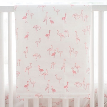 Pink Crib Blanket | Flamingo Baby Collection