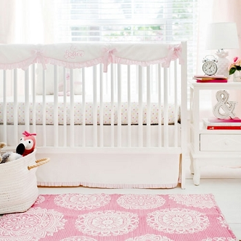 Pink Polka Dot Crib Baby Bedding Collection