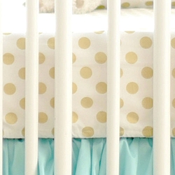 Polka Dot Crib Sheet | Gold Collections